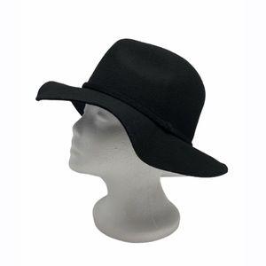 J. Crew Black Wool Fedora Hat Women's Size M-L NWT